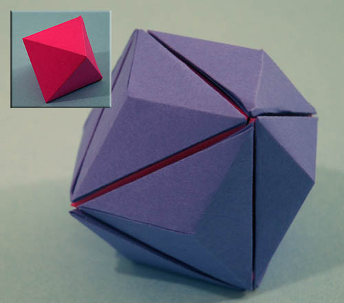 How To Make An Origami Modular Sonobe Cube: Modular origami how to ... | 440x500